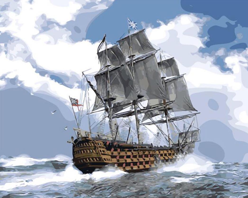 Gaira Malování podle čísel Válečná loď M1030K