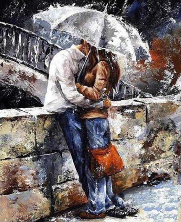 Gaira Malování podle čísel Pár pod deštníkem M1034