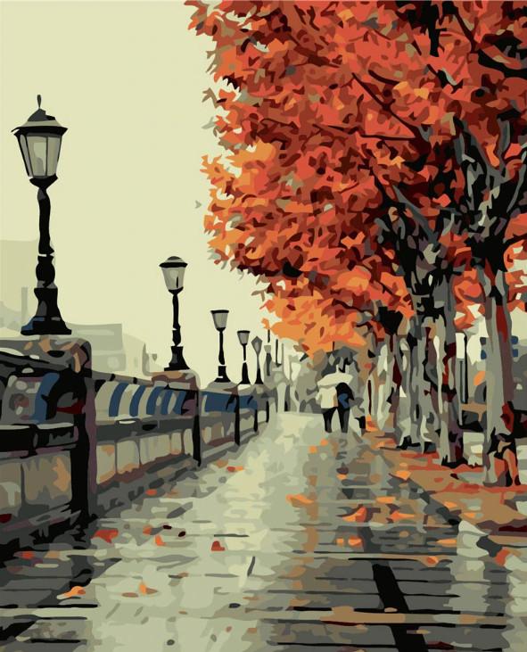 Gaira Malování podle čísel Podzimní promenáda M1036