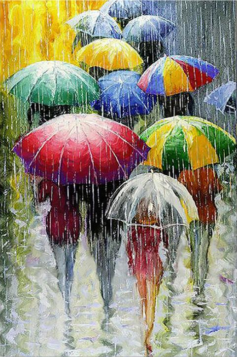 Gaira Malování podle čísel Barevné deštníky M1069