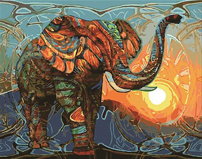 Gaira Malování podle čísel Slon M1084