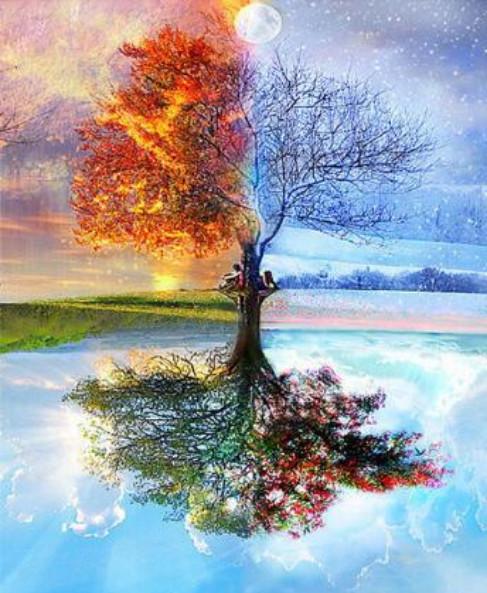 Gaira Malování podle čísel Strom ročních období M11801