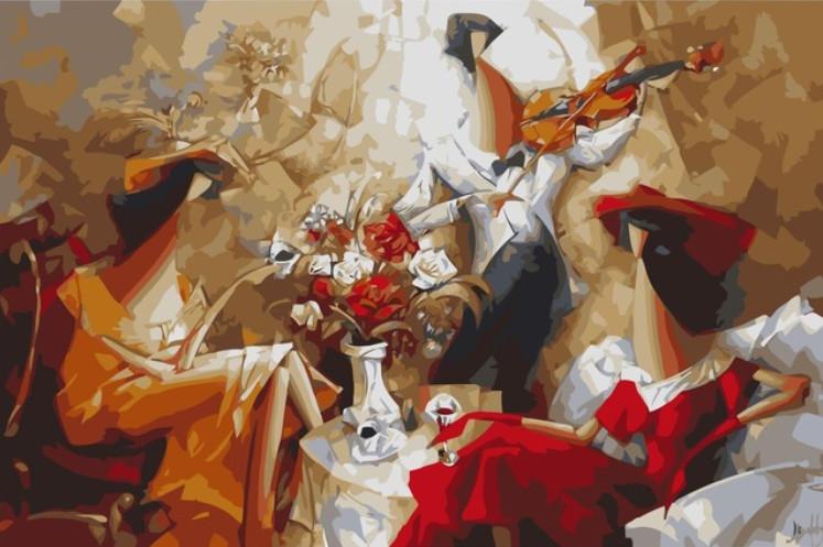 Gaira Malování podle čísel Romantický večer M1348