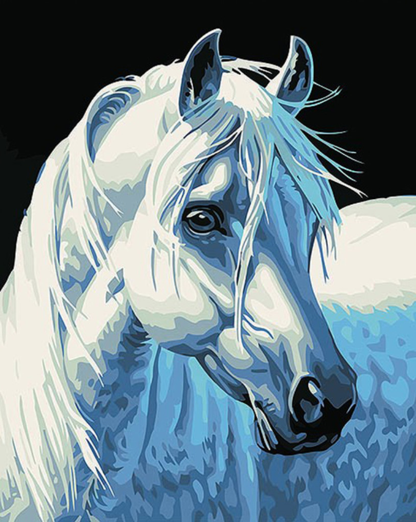 Gaira Malování podle čísel Bílý kůň M1387