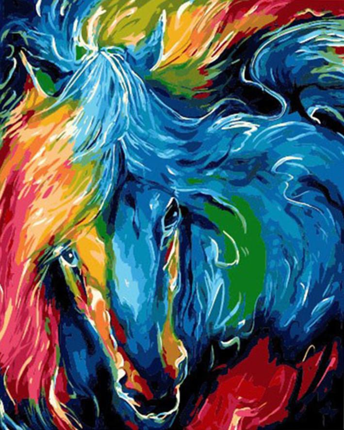 Gaira Malování podle čísel Barevný kůň M1534