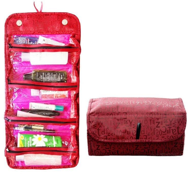 Gaira Taška na kosmetiku rolovací červená 407-26