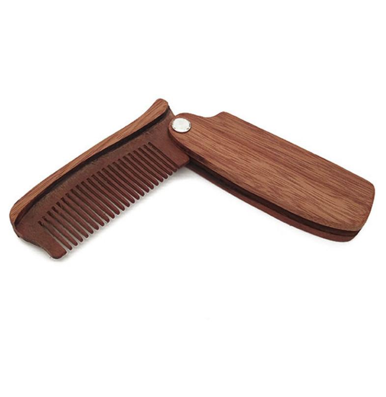 Skládací dřevěný hřeben na vousy Gaira W4481