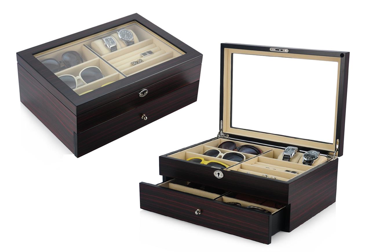 Dřevěná kazeta na brýle Gaira 96028-E